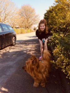 Josie and dog