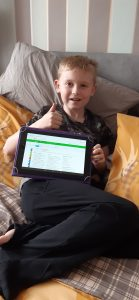Liam completing lots of year 6 and 7 work on IXL