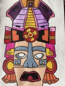week 1 Mayan mask